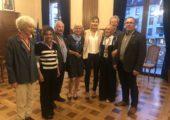 Annemasse / cérémonie d'Ordre national du mérite pour Micheline Della Pina