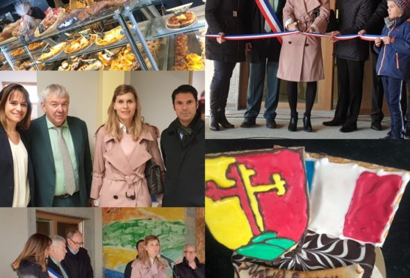 Jonzier-Epagny / inauguration de l'extension de la boulangerie et du restaurant scolaire