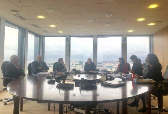 Déplacement d'une délégation de députés au Conseil supérieur de l'audiovisuel