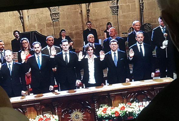 Genève / Séance extraordinaire du Grand Conseil de Genève et prestation de serment du Conseil d'Etat