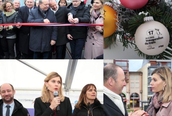 Inauguration du tram Annemasse-Genève