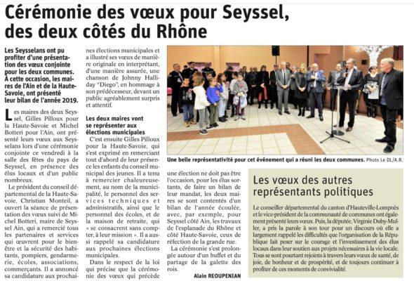 Seyssel / cérémonie de voeux