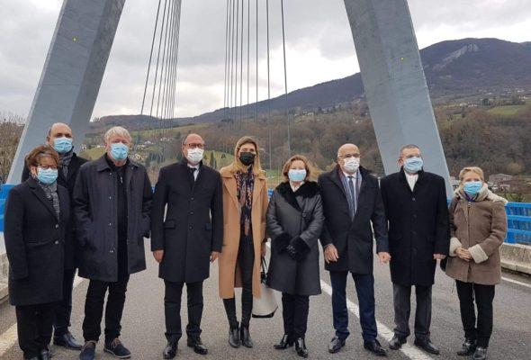 Seyssel / inauguration du pont à haubans