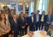 Moment de rencontre et d'échange avec M. Ali NAZARY, porte-parole d'Ahmad MASSOUD et responsable des relations internationales du Front de résistance nationale d'Afghanistan