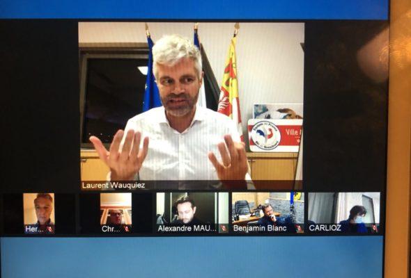 🎿 Réunion de Laurent Wauquiez sur la présentation des aides régionales en faveur des acteurs de la montagne