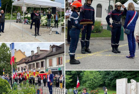 🇫🇷 j'ai assisté aux cérémonies du 14 juillet à Saint-Julien, Ambilly et Etrembières pour célébrer notre fête nationale