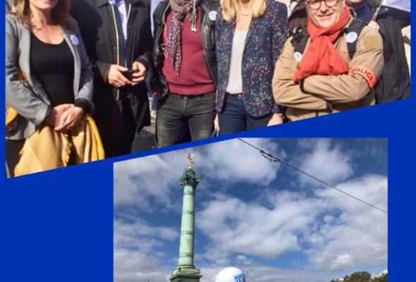 Place de la Bastille pour la #marchedelacolere.