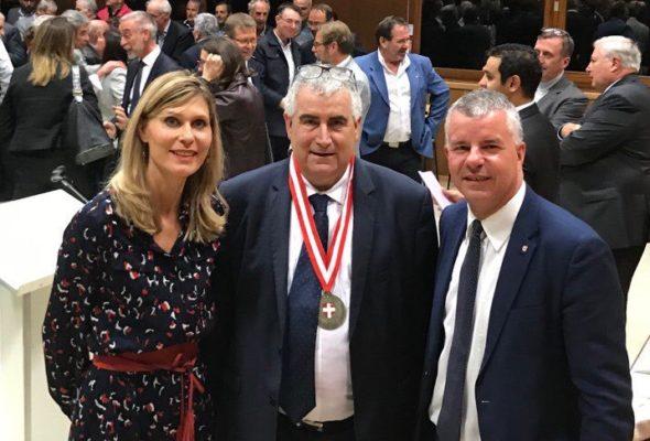 Neydens / Réception à l'occasion du départ du Sous-Préfet Jean-Marc Bassaget