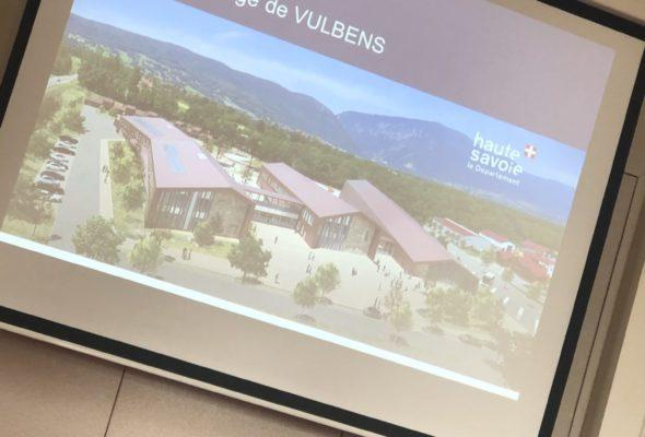 Comité de pilotage sur le futur collège du Vuache à Vulbens