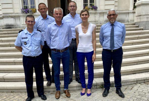 Échanges avec le Colonel Grégory ALLIONE, Président de la Fédération nationale des Sapeurs-pompiers de France