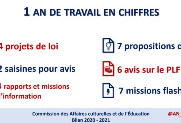 Bilan d'activité 2020-2021 de la commission des affaires culturelles