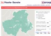 Couverture du département en 4G / document réalisé par l'ARCEP (novembre 2020)