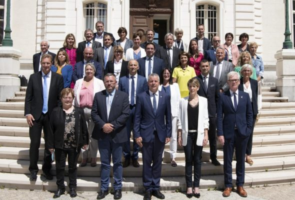 Installation de la nouvelle assemblée départementale et élection de Martial Saddier comme Président