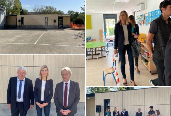 Jonzier-Épagny / Inauguration de la nouvelle école maternelle.  Un bâtiment modulaire de qualité pour le bien-être et la réussite des élèves  !