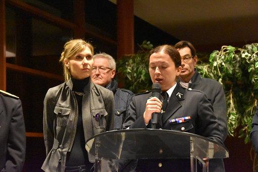 Archamps / cérémonie de la Sainte-Geneviève de la compagnie de gendarmerie de St-Julien-en-Genevois