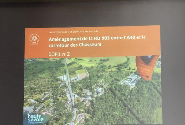 Annecy / comité de pilotage aménagement de la RD 903 entre l'A40 et le carrefour des chasseurs