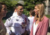 Annecy / cérémonie sur le Pâquier pour la prise de commandement du 27e Bataillon de chasseurs alpins par le Colonel Ivan Morel