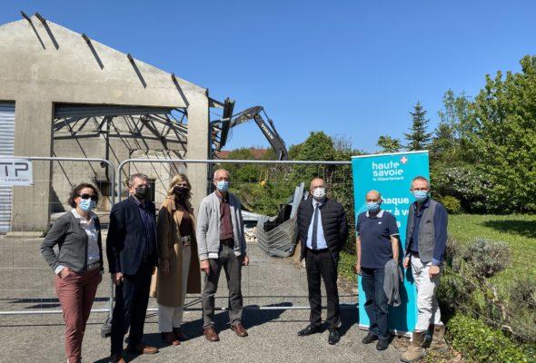 Seyssel / 🚧 démarrage de travaux du projet de la SEMCODA, soutenu par la régie d'électricité et le département.