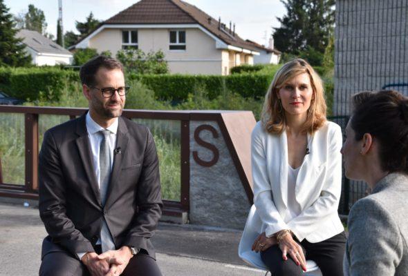 Dans l'émission transfrontalière « Ensemble à la frontière » avec Antonio Hodgers sur Léman bleu