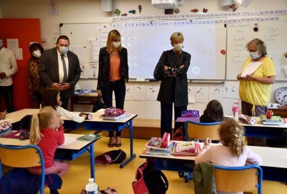 Frangy / Visite de l'école élémentaire « Au fil des Usses »