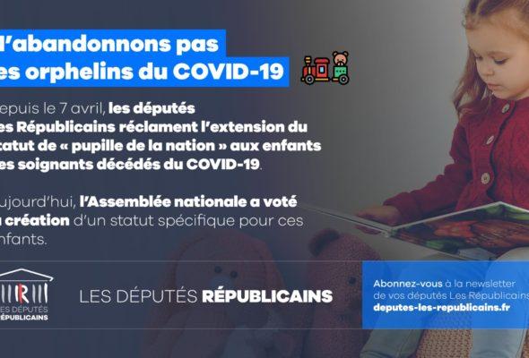 Création d'un statut pour les enfants de soignants morts du Covid-19