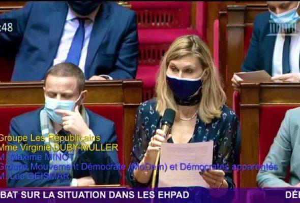Je suis intervenue merredi lors du débat sur la situation dans les EHPAD, dans l'hémicycle.