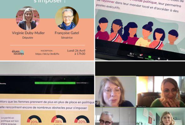 Intervention dans le cadre du webinaire organisé par Élues locales : «Femmes en politique : ce qu'il faut savoir pour s'imposer !»