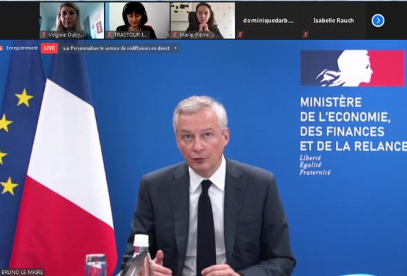 Audtion de  Bruno Le Maire, Ministre de l'économie, des finances et de la relance, dans le cadre de la mission d'information sur l'égalité économique et professionnelle