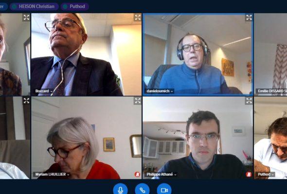 Annecy / réunions en visio de commissions du Conseil départemental