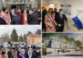 Déplacement de Gérald Darmanin, ministre de l'intérieur, pour inaugurer l'hôtel de police d'Annemasse
