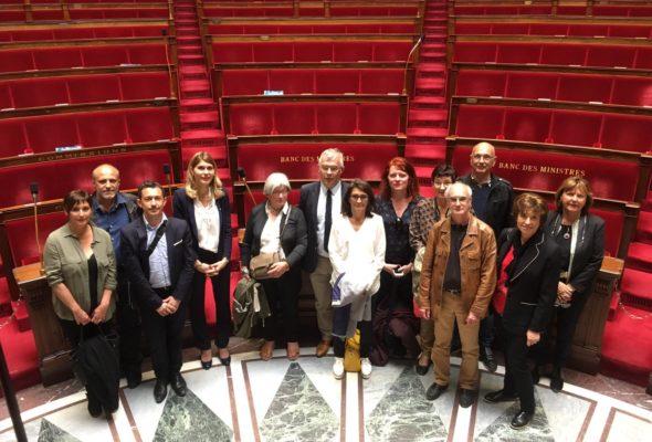 Visite du Conseil municipal de Lucinges à l'Assemblée nationale