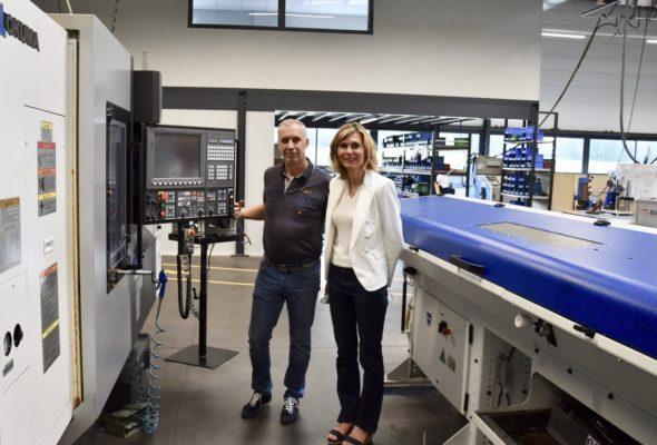 Vétraz-Monthoux / visite de l'entreprise Pinget-Premsal qui fête ses 60 ans d'existence