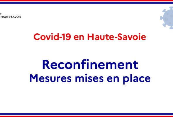 Mesures mises en place pendant le confinement / Lien vers la site de la Préfecture de Haute-Savoie