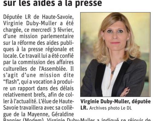 Désignée avec Géraldine Bannier pour une mission flash sur les aides à la presse