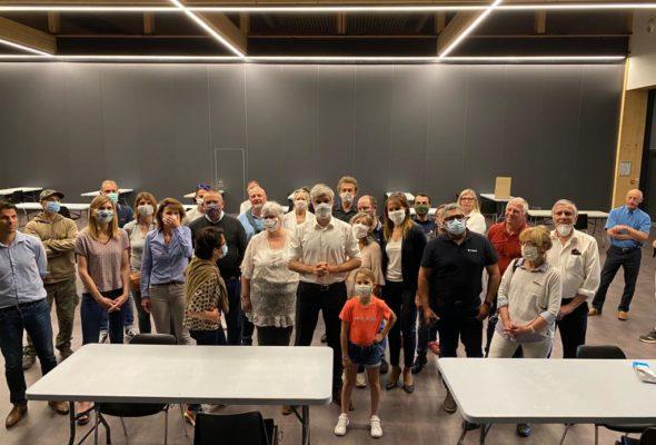 Visite de Laurent Wauquiez pour le lancement de l'opération #UnhabitantUnmasque en Haute-Savoie