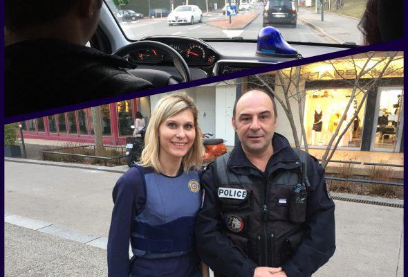 La député V. Duby-Muller en immersion avec les policiers pour défendre leur métier (DL)
