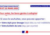 Elections municipales le 15 mars / consignes de sécurité sanitaire