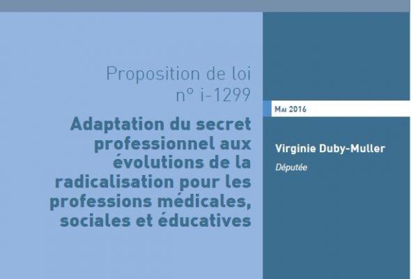 Virginie Duby-Muller dépose une proposition de loi sur la prévention de la radicalisation