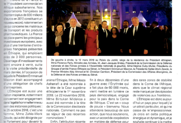Une nouvelle ère pour les liens franco-éthiopiens (La Lettre diplomatique)